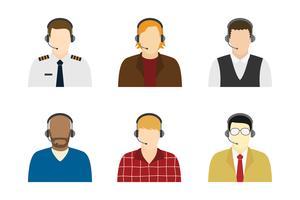 Personaggio del servizio clienti maschile vettore
