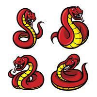 Mascotte dei serpenti vettore