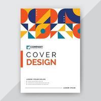 disegno di copertina geometrica astratta vettore
