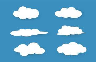 illustrazione di vettore delle nuvole del cielo.