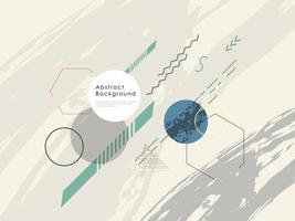 sfondo geometrico astratto. forma fluida e design di elementi per pubblicità e banner. vettore