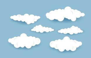 illustrazione eps10 di vettore delle nuvole del cielo.