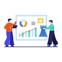 strategia di marketing e concetto di business vettore
