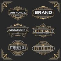 Design del telaio linea vintage per etichette vettore