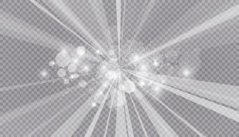 effetto luce incandescente con molte particelle glitter isolate. vettore nuvola stellata con polvere. magiche decorazioni natalizie