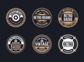 Collezione Circle Vintage and Retro Badge Design vettore