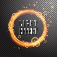 Elemento di design effetto di luce brillante cerchio