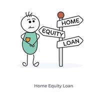 prestito di equità domestica vettore
