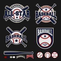 Logo design distintivo di baseball per logo