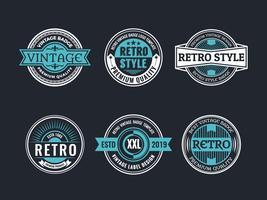 Collezione Circle Vintage and Retro Badge Design