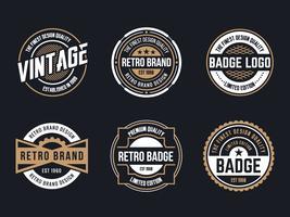 Cerchio Vintage e Retro Badge Design vettore