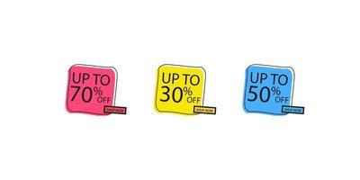 offerta tag impostato. adesivi di sconto vettoriale. adesivi da collezione, cartellini dei prezzi. vendita, gratis, nuovo vettore