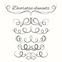 Set divisori disegnati a mano. Bordi decorativi impostati. Elementi decorativi ornamentali