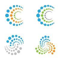 immagini del logo della molecola vettore