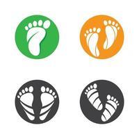 immagini del logo per la cura del piede vettore