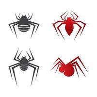 illustrazione delle immagini del logo del ragno vettore