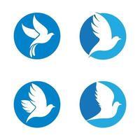 illustrazione delle immagini del logo della colomba vettore