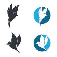 immagini del logo degli uccelli vettore