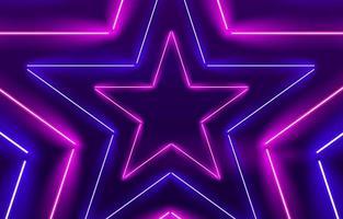 sfondo chiaro di stelle al neon vettore