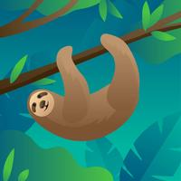 Vettore di foresta di bradipo