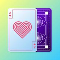 rettangolo di progettazione di carte da gioco vettore