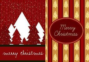 Confezione per carta da parati rossa di Illustrator di Natale