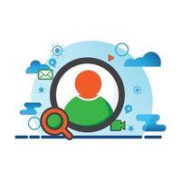 utente, illustrazione di persone. icona di vettore piatto. può utilizzare per, elemento di design di icone, interfaccia utente, web, app mobile.