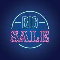 Grande vendita di insegne al neon