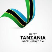 illustrazione felice di progettazione del modello di vettore di celebrazione del giorno dell'indipendenza della tanzania