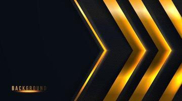 la freccia d'oro astratta su sfondo scuro illustrazione vettoriale