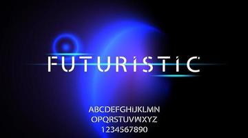 tipografia alfabeto futuristico, illustrazione vettoriale
