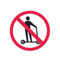 nessun segno di vettore di scooter kick
