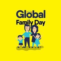 illustrazione di progettazione del modello di vettore di celebrazione di giorno della famiglia globale felice