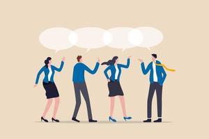 lavoro di squadra condivisione di opinioni, riunione di squadra condivisione di idee per risolvere il problema vettore