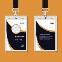 mockup modello di carta d'identità aziendale professionale vettore