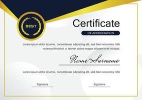 modello di progettazione del certificato per il successo vettore