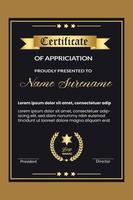 progettazione di certificati professionali per il miglior modello di premio per i dipendenti vettore