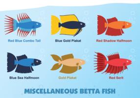 Vettore di pesce di Betta