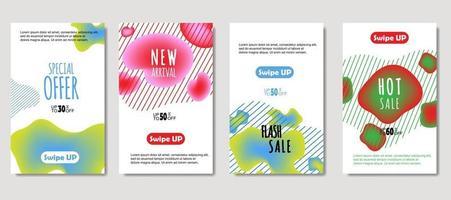 mobile fluido dinamico astratto per banner di vendita. design del modello di banner di vendita, insieme di offerte speciali di vendita mega. design per flyer, carta regalo, poster su muro, copertina, banner, social media vettore
