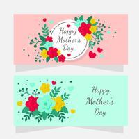 Banner per la festa della mamma vettore