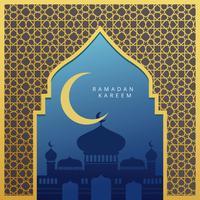 illustrazione di sfondo ramadan vettore