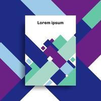brochure a4 dimensioni modello design astratto geometrico strato di sovrapposizione di sfondo vettore