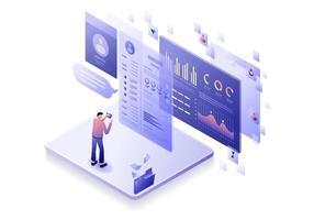 progettazione del concetto di marketing digitale vettore