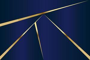 modello poligonale astratto lusso blu scuro con oro vettore
