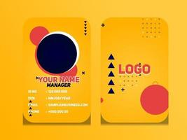 semplice disegno geometrico astratto della carta d'identità modello di carta d'identità professionale vettore per dipendenti e altri