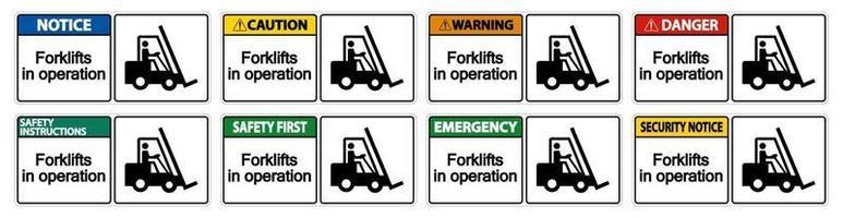 carrelli elevatori in segno di simbolo di funzionamento isolare su sfondo trasparente, illustrazione vettoriale