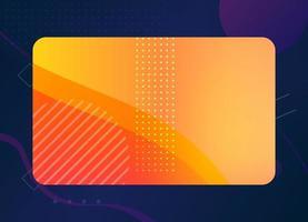 sfondo del modello di biglietto da visita geometrico moderno con colori colorati vettore