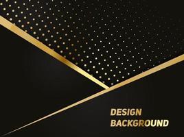 modello poligonale astratto lusso nero con oro vettore