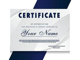certificato di modello di apprezzamento design geometrico alla moda. vettore