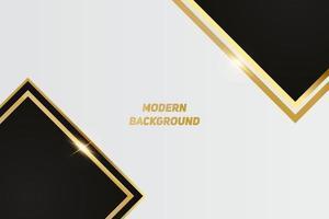 sfondo di lusso nero moderno con linea dorata e luce dorata lucida. vettore